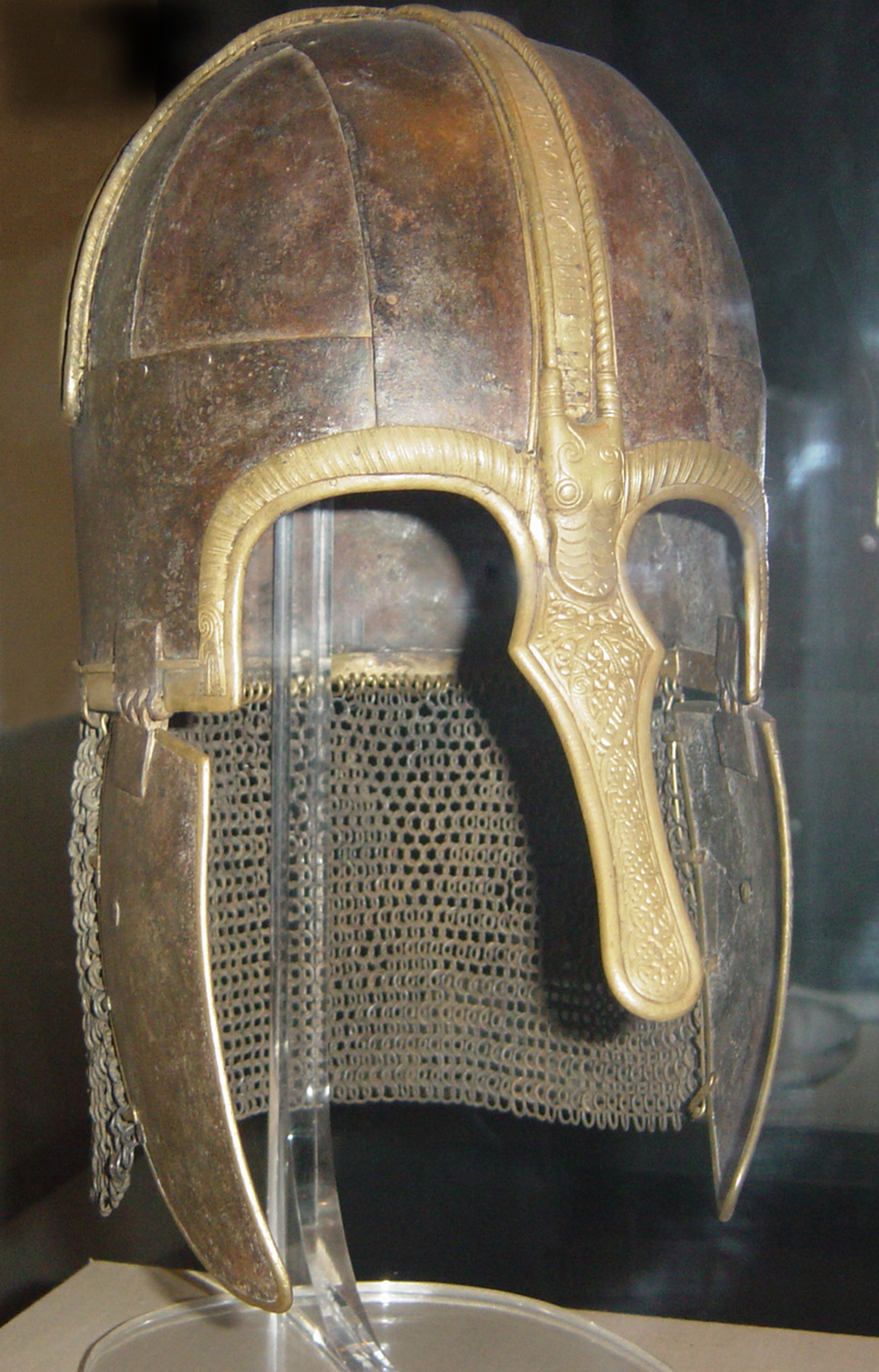 Osheres hjälm är från senare hälften av 700-talet och kan beskådas på Yorkshire Castle Museum.
